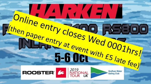 More information on HARKEN INLANDS online entry closes Wed 0001hrs.  Then it's paper entry with £5 late fee