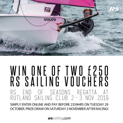 More information on Win £250 at the RS End of Seasons Regatta 2-3 Nov!